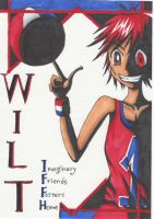 Wilt and a Basketball by Yang-Mei