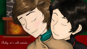 Klaine - Baby its cold outside by markintraining