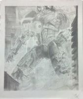 Gypsy Danger Drawing by Fragile-Lynne