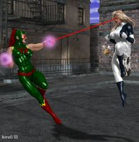 Walkiria vs. Ultrawoman by hotrod5
