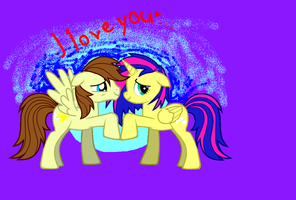 I Love you . . .  with cutiemarks xD by MoonCloudTheBrony