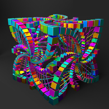 The Fractal Cube in Color by RamboBlender