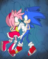 Together- Sonamy colouring 2 by Cassy007