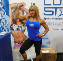 Hugs From Karina Nascimento At The 2014 Arnold by zenx007