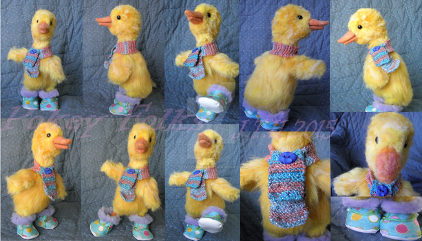 Needle Felted Baby Duck by CoffeeRunner