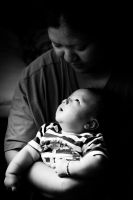 Mother and son by vungtau