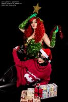 Poison Ivy and Catwoman Christmas by UmiJenova