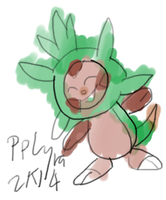 Chespin doodle by PPLyra