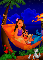 Lilo Nani y Stitch Photoshop by IMArellano