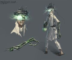 Mad Scientist Concept by kircida