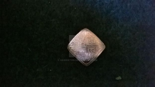Celtic Square Pillow Bead by Hawkston
