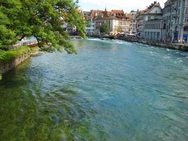 River out of Lake Lucerne by Geotripper