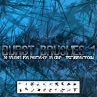 JAGGED ICE BURST BRUSHES by brushadobe