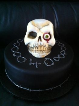 Skull Cake by mike-a