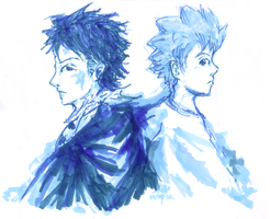 Xanxus and Tsuna by kaiba6