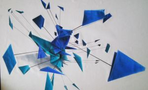 Exploded Origami Squirrel by Sugashane09