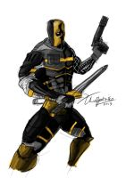 Deathstroke Redesign by TheoDJ
