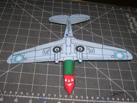 dimeweight flying P40 papercraft 3 by falcon01