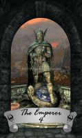 Skyrim Tarot 4 - The Emperor by Whisper292