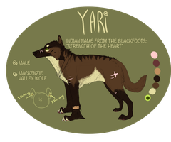 Yari ref sheet by melonstraw