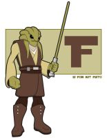 F is for Kit Fisto by jksketch