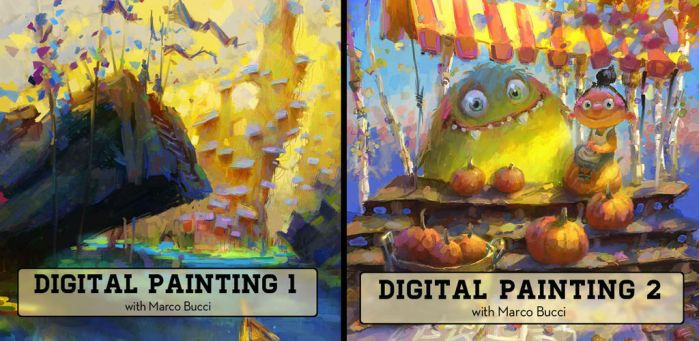Full Digital Painting Lessons by MarcoBucci