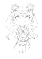 chibi eternal sailor moon by TaryneRhedey
