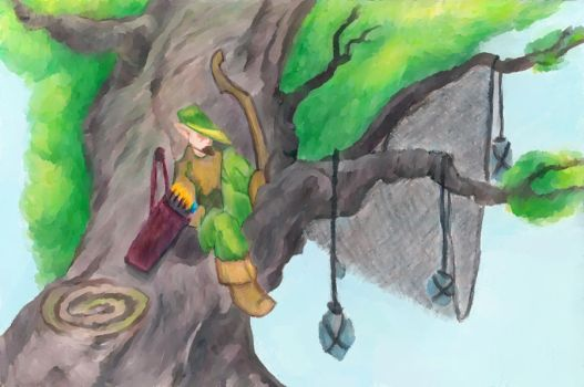 Archer in a tree by L1qw1d