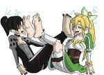 Mayonaka and Leafa's hypnosis worship by cardfightvanguard62