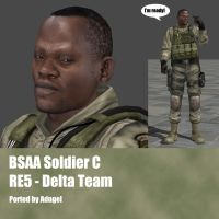 BSAA Soldier C RE5 Delta Team by Adngel