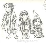 Chibi style practice - featuring Tock races by rachelillustrates