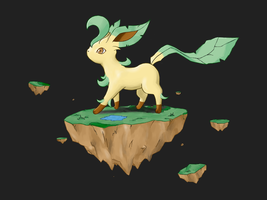 Leafeon by whonghaiw