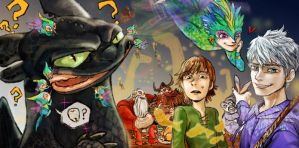 Cross over (HTTYD , ROTG) by nechy0