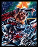 Thor VS Apocalypse by Twynsunz
