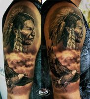 Native American by DallierTattoo