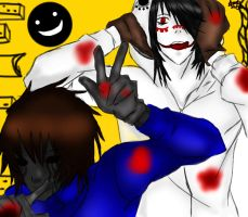 Matryoshka (nivel jeff the killer y eyeless jack) by Nadeshiko-anubis