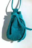 Turquoise Patterned Leather Medicine Pouch Necklac by RamsEyeSupply