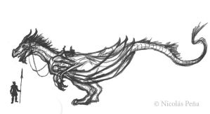 Silver Dragon, sketch. by Amisgaudi