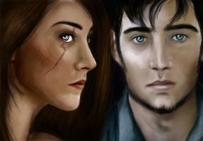 The Host: Ian and Wanda Portrait by TheSearchingEyes