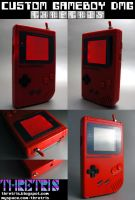 Backlit Gameboy RED RED RED by Thretris
