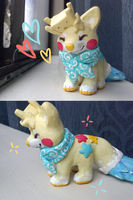Sandcastle Sushi Dog Sculpture by Manic-Bunny