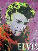 elvis by clayolsonart