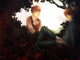 Hunhan in wonderland by karumeru