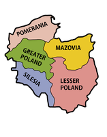 Map of of regions of Poland by kasumigenx
