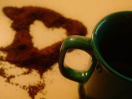 for the love of coffee. by retrobishojo