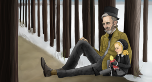 Valjean and Cosette by tree27