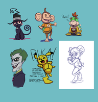Livestream Sketch Requests :: October 13th by stinawo