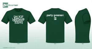 PartyGreener Concept Tee / Recycle when trashed. by LaMuseFoto