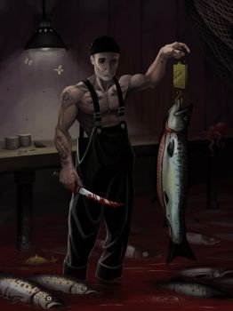 Fishmonger by wyrmfed