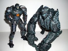 Pacific Rim- Gipsy Danger vs Leatherback by CyberDrone